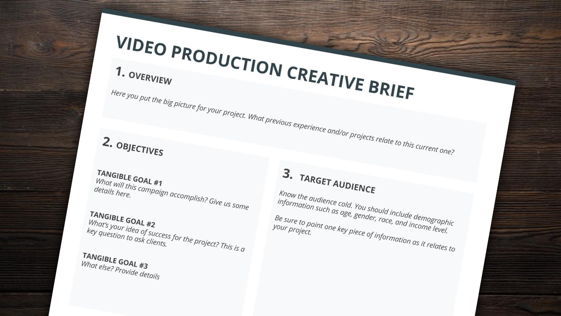 TVC brief bước đầu giúp agency, Production house nắm bắt nhu cầu của client
