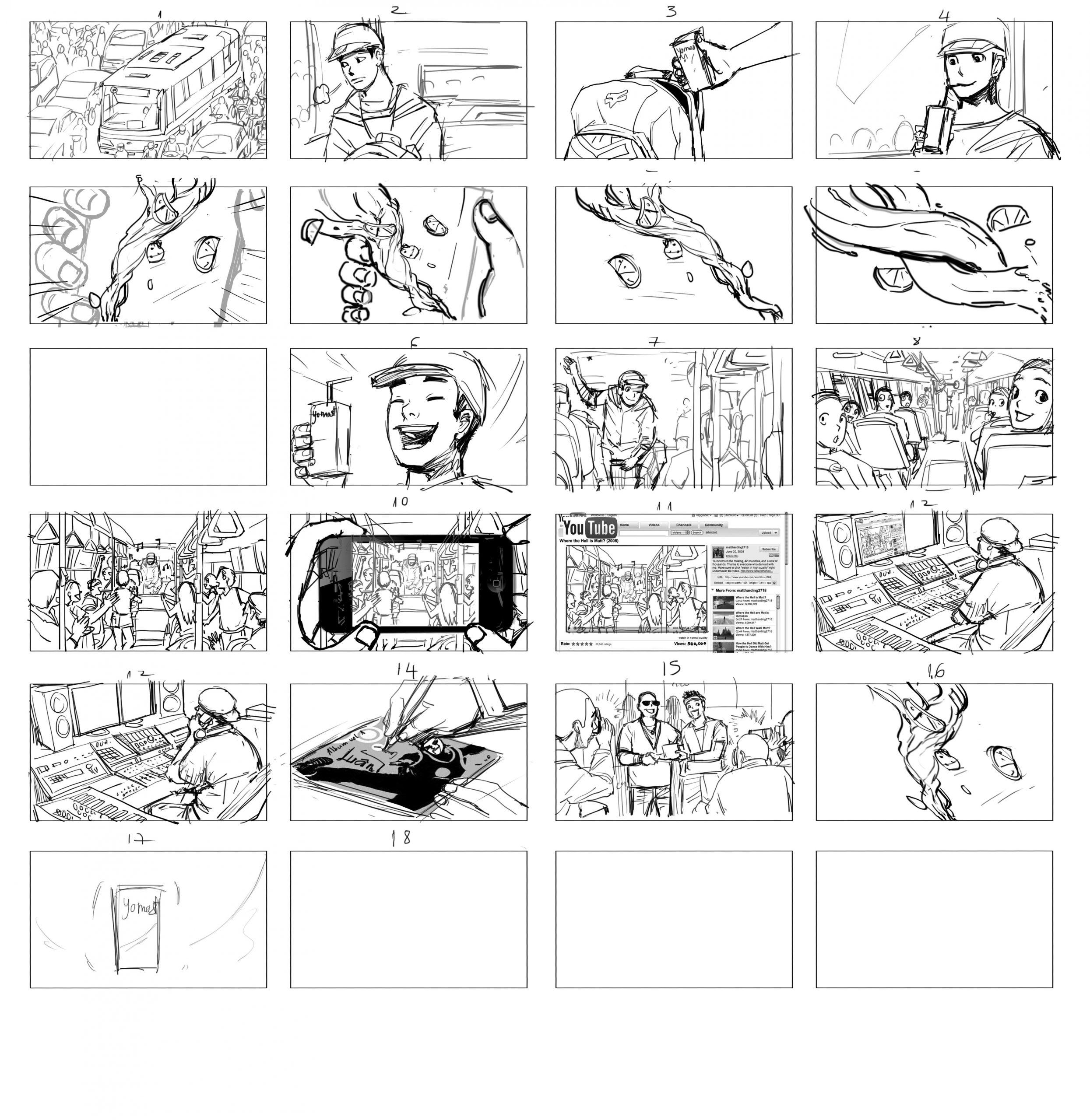 Trình bày storyboard sáng tạo cũng rất quan trọng