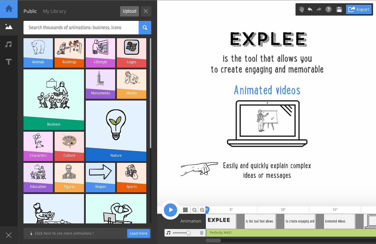 Explee.com phù hợp cho những ai mới bắt đầu làm phim hoạt hình