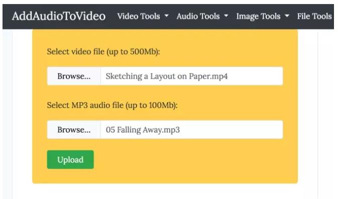 Lựa chọn file nhạc và file video (Ảnh: sưu tầm)