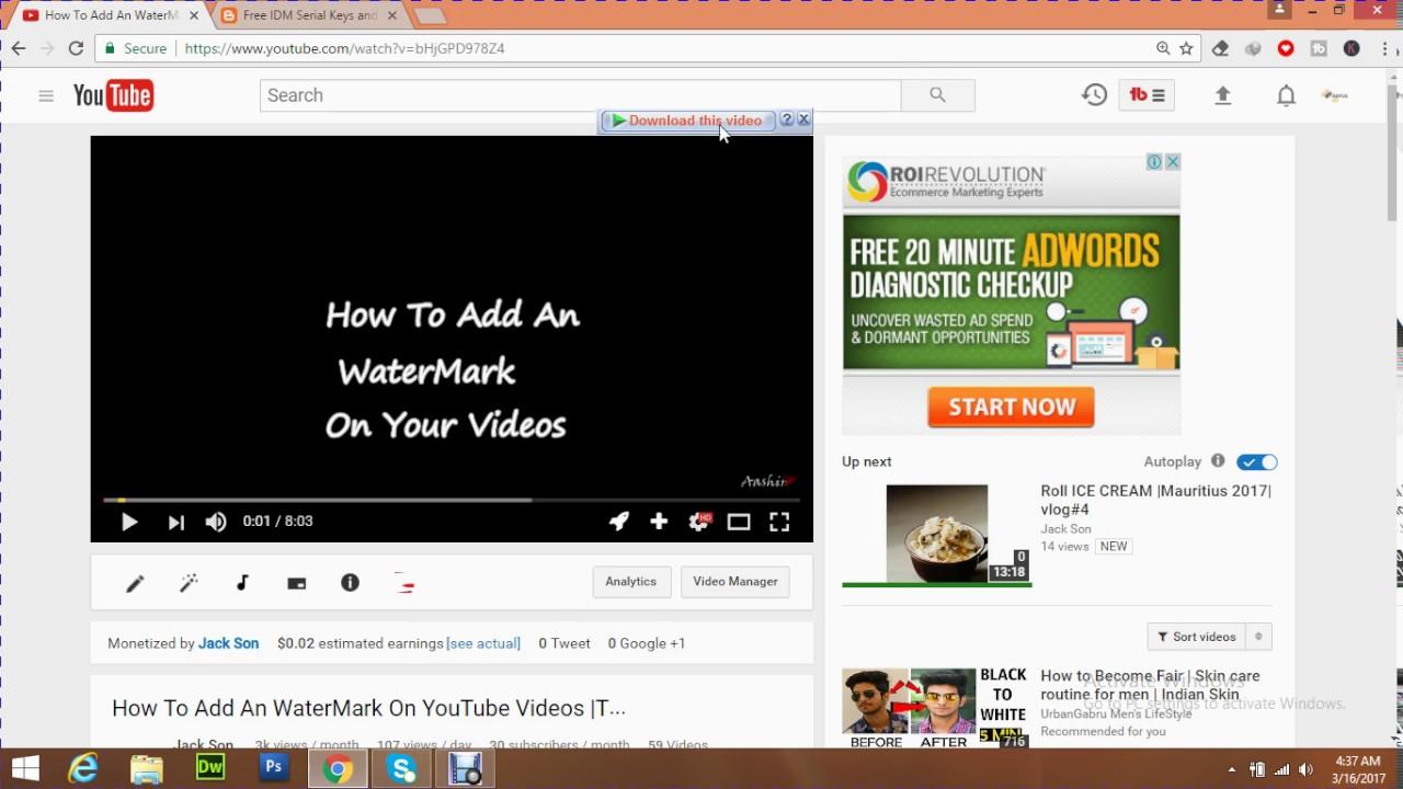 Lưu video trên Youtube bằng phần mềm IDM trên Google Chrome (Ảnh: sưu tầm)