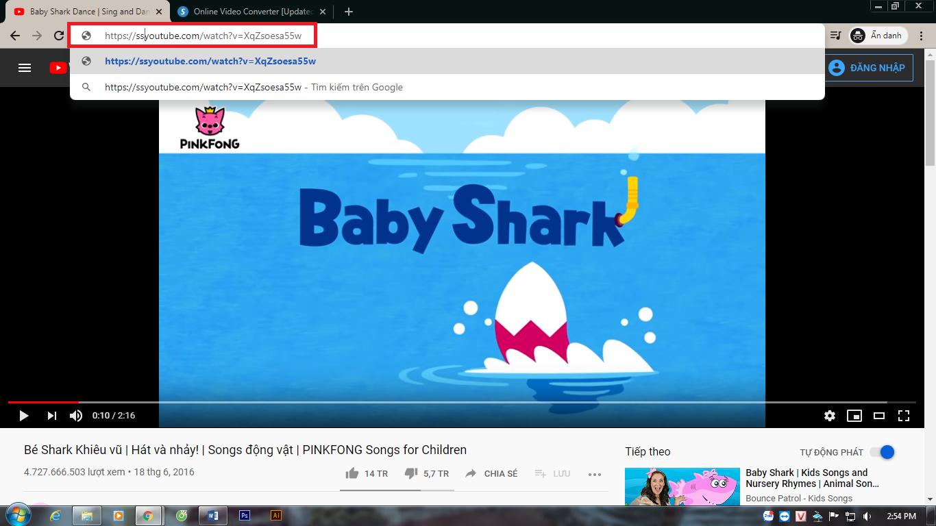 Cách 1: Thay đổi URL của video muốn tải (Ảnh: sưu tầm)