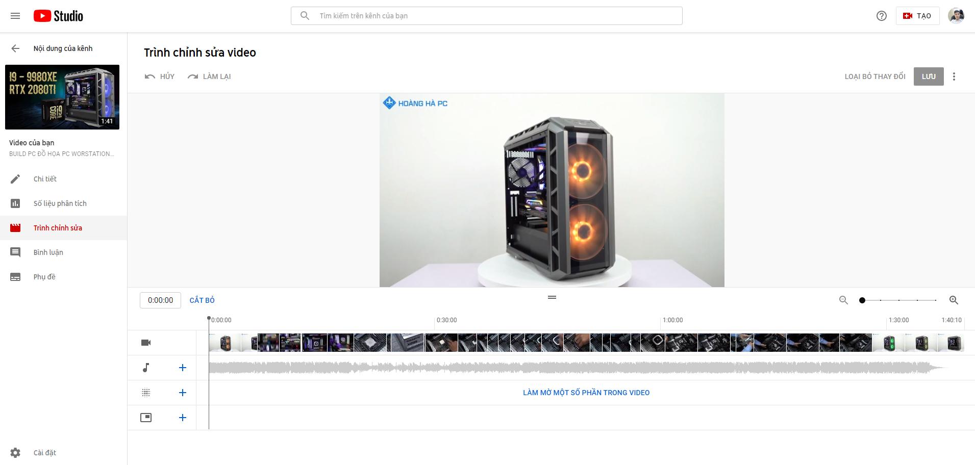 Ghép nhạc trực tuyến bằng youtube